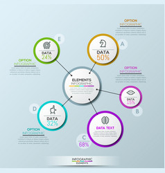 Company infographic overview design vector