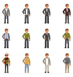 dress code for man vector image