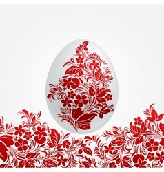 Easter red eggs design template vector image vector image