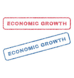 Economic growth textile stamps vector