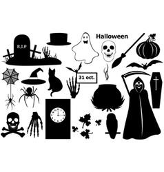 halloween elements vector image vector image