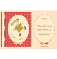 happy baby greeting card vector image