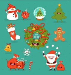 Happy newyear set vector