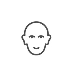 Human head line icon vector