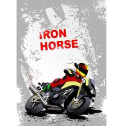 iron horse 006 vector image vector image
