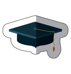 Isolated graduation cap design vector
