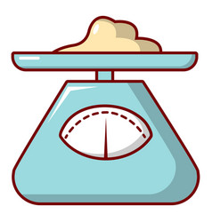 Kitchen scales icon cartoon style vector