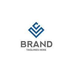 Lc letter logo design template vector
