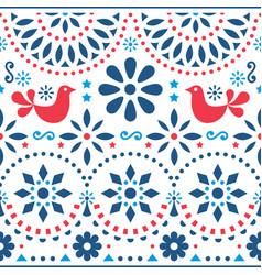 Mexican folk art seamless pattern vector