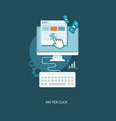 Pay per click flat vector