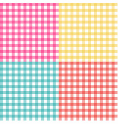 picnic table cloth seamless pattern set picnic vector image vector image