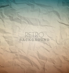 Retro crumpled background vector image