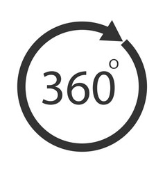 rotate 360 degrees icon on white background vector image