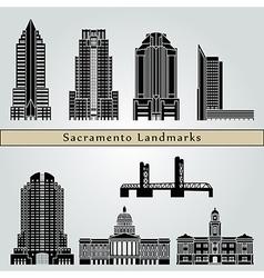 Sacramento landmarks and monuments vector