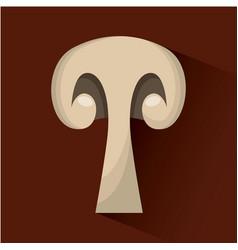 Slice mushroom icon vector