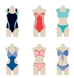 Summer fashion swimming suits vector