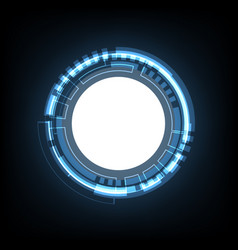 technology cyber abstract circle background vector image vector image
