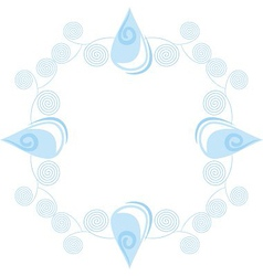 Water drop pattern vector image