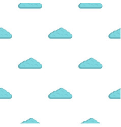 Wet cloud pattern flat vector