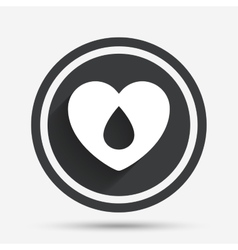 Blood donation sign icon medical donation vector