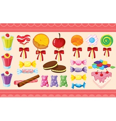Various sweets and wallaper vector