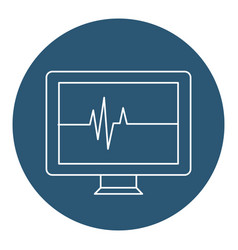 Computer desktop with cardiology application vector