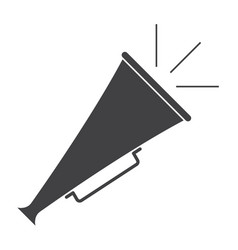 vintage bullhorn megaphone vector image