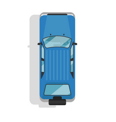 Top view off road jeep isolated icon vector
