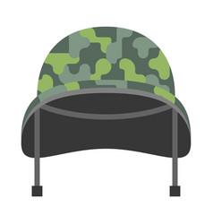 military helmet vector image