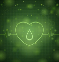 Green pulse of love vector