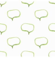 Seamless watercolor pattern with speech bubbles vector