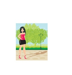 Cartoon female design vector