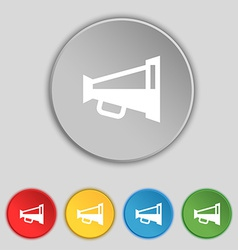 Megaphone soon loudspeaker icon sign symbol on vector