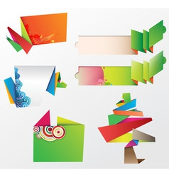 origami design elements vector image