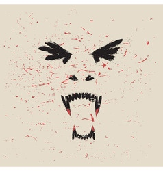 vampire face vector image