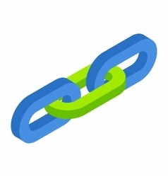 Chain link isometric 3d icon vector