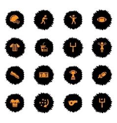 American football simply icons vector