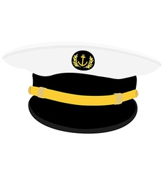 Navy captain cap vector