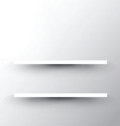 shelf on white background 2503 vector image