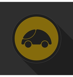 Dark gray and yellow icon - car vector