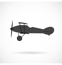 silhouette retro plane times of World War I vector image