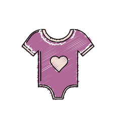 Baby clothes that used to sleep vector