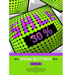 Background with inscription sale vector image vector image