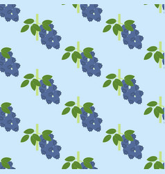 Blueberry berry pattern vector