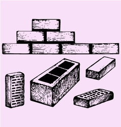 Bricks cinder block vector