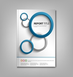 Brochures book or flyer with blue gray rounds vector image vector image