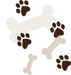 Dog bones vector