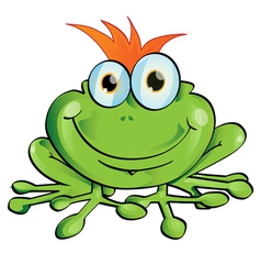 frog cartoon vector image vector image