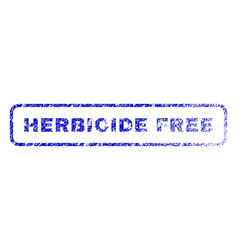 Herbicide free rubber stamp vector