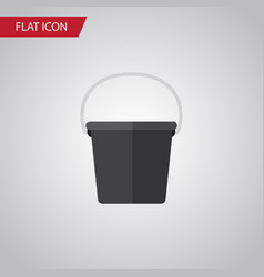 isolated bucket flat icon pail element can vector image